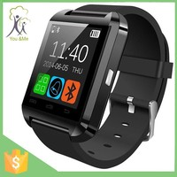 for ios and android cellphones super black wrist sports U8 smart bluetooth watch