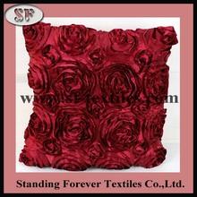sofa cushion with satin rosette