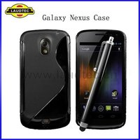 S Line Design TPU Wave Gel Case Cover for Samsung Google Galaxy Nexus i9250, Samsung Nexus Prime
