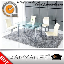 DYF184R Danyalife Hot Selling Glass and steel Dining Room Furniture