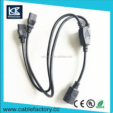 OEM/ODM 8 years oem experience c13 c14 connector power cord power cable