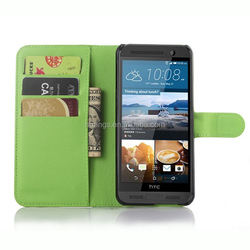 Fashion PU leather book style cover mobile phone leather case for htc one me china wholesale