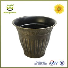 Cheap Rounded silver hand painting flower pot