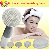 2015 Hot sale handheld electric face exfoliate massager deep cleaning battery operated facial exfoliator