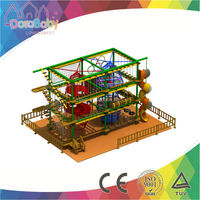 Cheap soft indoor ropes course adventure, challenge indoor playground prices