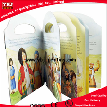 children art board book printing with handing hole