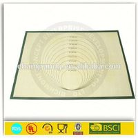 Non-stick Silicon Baking Mat with Customized Printing / Food Grade Eco-friendly BPA Free Fiberglass Silicone Baking Mat
