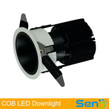 10W COB LED Spotlight 24/38/60degree beam angle high brightness 12W led ceiling spot lamp 100lm/watt