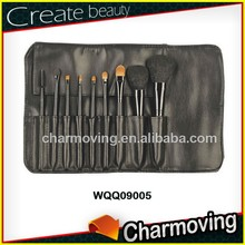 Hot Selling 9 pcs Sable Hair Private Lable Makeup Brush Set With High Quality Bag
