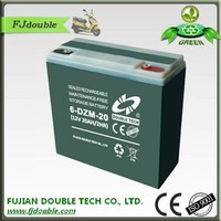 Good quality 12volt dry cell battery 20ah lead acid battery