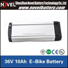 2015 Hot sale lifepo4 36V 10Ah E-bike battery