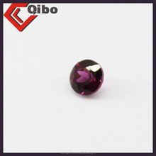 3mm natural rhodolite round brilliant cut