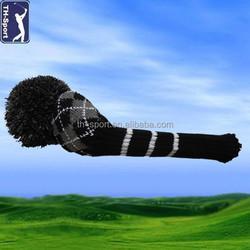 Custom clolors Wool knitted Golf club head covers