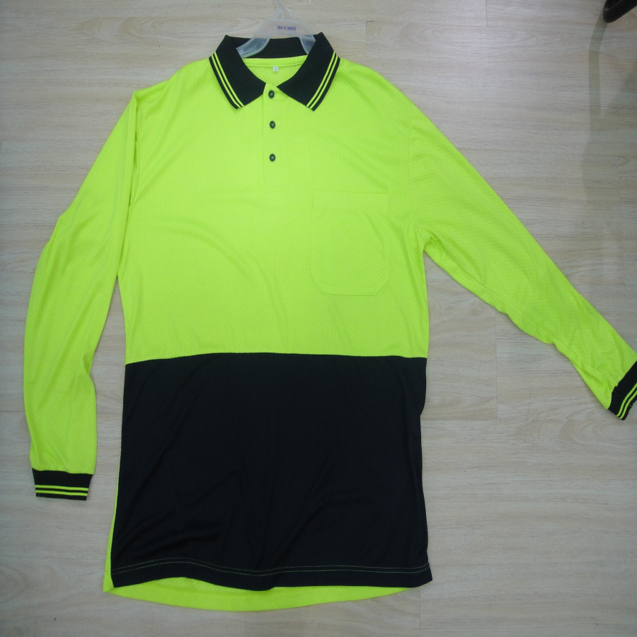 Factory directly men 39 s long sleeve green polo shirts in for Polo shirt color combination