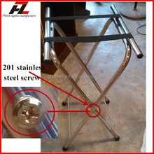 Hotel Folding Stainless Steel Tray Stand / Tubular S / S Tray Stands Supplier (Hz-K026)