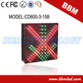 600 mm fácil instalación tráfico led de señal
