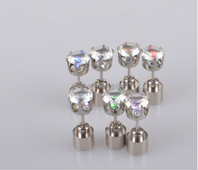New Fashion Cool Party Accessories Light Up Led Stud Earrings for Men Women