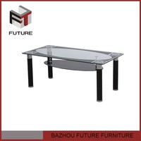 black lacquer glass pvc coffee table