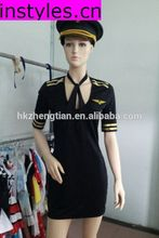 Trade assurance $ Instyles Walson New Sexy Stewardess Flight Attendant Costume Outfit Uniform Pilot