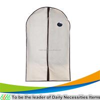 90 GSM nonwoven eco-friendly beige 60x100cm garment bag with PVC window