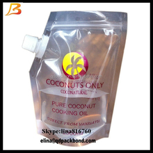 Resealable plastic bag with spout, packing cooking oil plastic bag