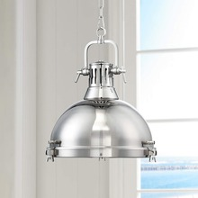 11.15-14 Industrial and modern style a great accent for your home decor Bold and sleek Chrome Pendant Light