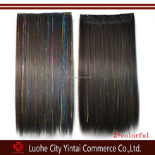 synthetic full head clip in hair extensions one pieces 5 clips for women