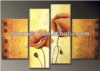 Home decoration Handpainted Group oil painting 4 Panel