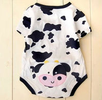 comfortable fit milk cow baby rompers wholesale