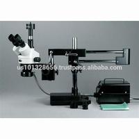AmScope Supplies 3.5X-90X Stereo Boom Microscope with 10MP Camera + Fiber Optic Light