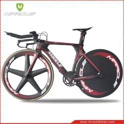 Chinese bike, MIRACLE bike TT model MC095 new full carbon bike complete time trial bike TT frameset&best groupset 49cm