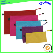 pure color oxford cloth carrying office zipper file document bag