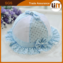 latest baby cute floppy hat with flower embroidery