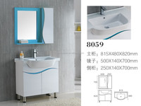 8059 Ceramic Counter top Cabinet Basin thin edge basin Bathroom Sink PVC Vanity