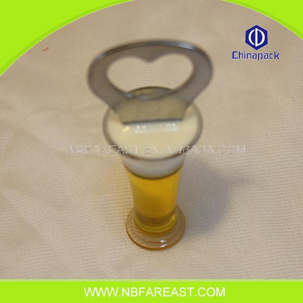Multifonctionnel pas cher promotionnel en bois rond bouteille ouvre