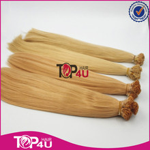 Indian Brown Remy Virgin human I-Tip Straight Prebonded Hair