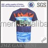 JMZ good quality men t-shirt ocean wave print cotton t-shirt
