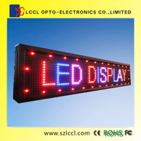 Programmable LED Moving message Display Sign p20 fullcolor semi-outdoor high resolution led display screen