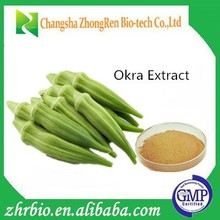Low Price 100% pure natural Okra Extract Powder 20:1
