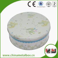 Small Round Decorative Tin Box, Beautiful Tin Box