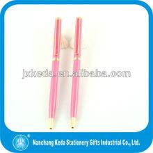 new style cute pink pen metal cross twist slim pen