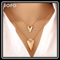 European Latest Fashion Double Layer Gold thin Chain Cheap Necklace Wholesale