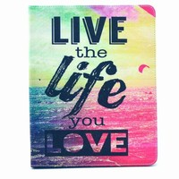 cartoon case for iPad 2 3 4, for iPad 2 3 4 book style case, stand tablet leather case