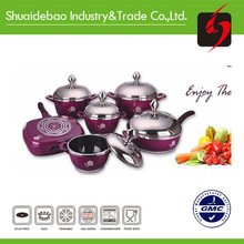 korea style 9pcs double sided frying pan with induction bottom