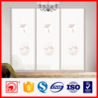 Wall to wall painted glass sliding wardrobe doors,sliding wardrobe door roller