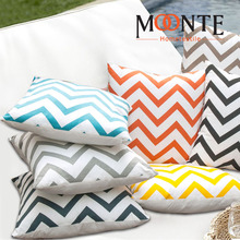 Cotton Sofa Pillow For Home Decoration chevron cushion