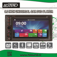 Cheap price double din 6.2'' touch screen wholesale car audio