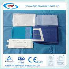 Sterile cover with water absorber fabric for exploratory laparotomy