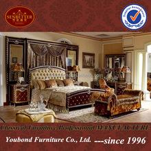 0026 Luxury royal wooden carved bedroom set Turkish style bedroom set furniture