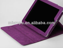 high quanlity microfiber pu leather cover for ipad